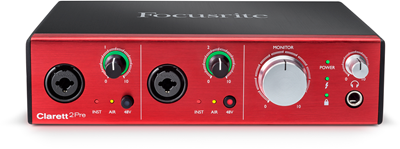 focusrite-Clarett2Pre_Front_elevated