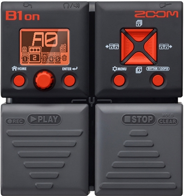 ZOOM B 1 ON bass eff.pedal
