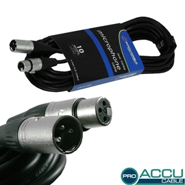 American Audio Accu-Cable AC-PRO-XMXF/10 Black m...