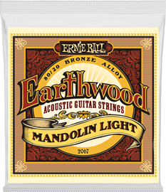 Ernie Ball 2067 Earthwood Mandolin Light Loop En...