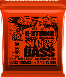 Ernie Ball 2838 Slinky Long Scale 6-string Nicke...