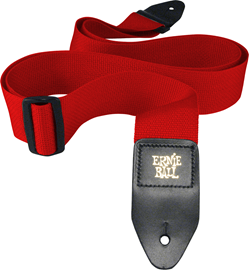 Ernie Ball 4040 Red Polypro Guitar Strap remen z...