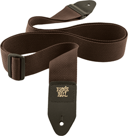 Ernie Ball 4052 Brown Polypro Guitar Strap remen...