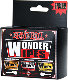 Ernie Ball 4279 Wonder Wipes Multi-Pack set mara...
