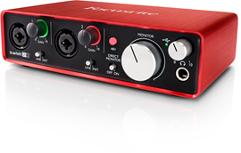 Focusrite Scarlett 2i2 (2. Generation) audio int...