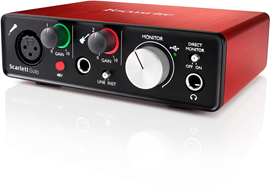 Focusrite Scarlett Solo (2. Generation) audio in...