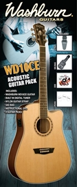 Washburn WD10CEB Acoustic Guitar Pack - Black ko...
