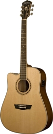 Washburn WD10SCELH Natural (Left Hand) elektro-a...