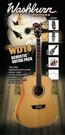 Washburn WD10 Acoustic Guitar Pack - Natural kom...
