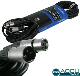 American Audio Accu-Cable AC-PRO-XMXF/20 Black m...