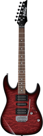 Ibanez GRX70QA-TRB Transparent Red Burst elektri...