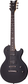 SGR by Schecter SOLO-II Midnight Satin Black ele...