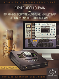 Kupite Apollo Twin audio interfejs i na poklon dobivate pluginove!